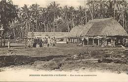 Pays Div-ref H901- Missions Maristes - D Oceanie - Une Ecole En Construction - Carte Bon Etat  - - Ansichtskarten