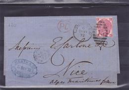 ROYAUME UNI  LETTRE COMPLETE CORRESPONDANCE ET CACHET D'ARRIVEE  1872 - 1840-1901 (Victoria)