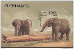 LAOS Bloc N°139 ** Bf Eléphants , 1997 , Elephants  Sheet SC # 1335 MNH