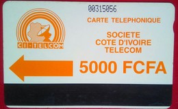 Ivory Coast Phonecard 5000 Francs Autelca - Costa D'Avorio