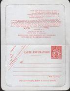 Carte Lettre Pneumatique 12,00 Format 180 X 140 Mm Coins Arrondis Neuve