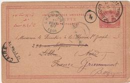 Cairo 1904 Le Caire - Carte Entier Ganzsache Stationery Pour Grammont Belgique - 1915-1921 Protectorat Britannique