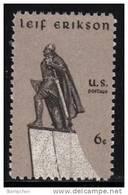 1968 USA Leif Erikson Stamp Sc#1359 Sculpture Sword Famous - Fencing