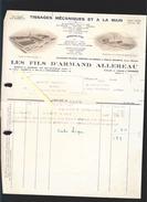 Tissages Armand Allereau - Ateliers à Andrezé, La Riviege-sauvageau  49 - Et à Cholet, Tissage Pineau - France