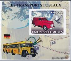 NB- Comores 2009 - BL1271, Transports Postaux, Ancienne Fourgonette Israélienne, Colombe.