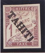TAHITI  TAXE 12 TIRAGE 100)  COTE:1300 EUROS  SIGNE - Tahiti (1882-1915)