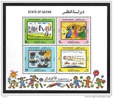 Qatar 1992 MS, Children Paintings Sovenir Sheet - Qatar