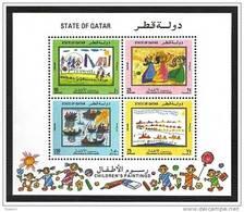 Qatar 1992 MS, Children Paintings Sovenir Sheet