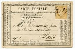 !!! CARTE PRECURSEUR CERES CACHET ET GC 2916 DE POIX DE LA SOMME (SOMME) 1873 - Entiers Postaux