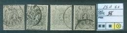 23A   4x  Obl - 1866-1867 Petit Lion