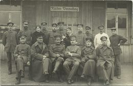 AK 1. Weltkrieg Soldaten Küchen-Verwaltung Echtfoto #97 - Materiaal