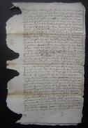 1669  Charente Document à Déchiffrer - Manuscrits