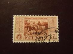 RODI 1932 GARIBALDI 20 C USATO - Egeo (Rodi)