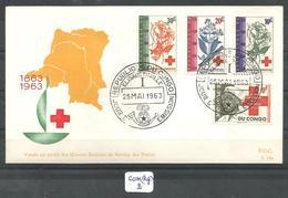CON(REP.) COB 495 à 502 FDC - Republik Kongo - Léopoldville (1960-64)