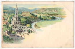 65 - LOURDES - La Basilique - Edition Sirven - Illustrateur - Lourdes