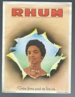 "Etiquette Rhum   "" Visage Femme ""    Imp  Wetterwald - Rhum"