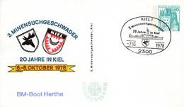 PP 100/80  3. Minensuchgeschwader - 20 Jahre In Kiel 6.-8-Oktober 1978 - BM-Boot Hertha - Privé Postkaarten - Gebruikt