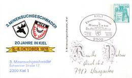 PP 100/80  3. Minensuchgeschwader - 20 Jahre In Kiel 6.-8-Oktober 1978 - - Privé Postkaarten - Gebruikt