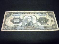 EQUATEUR 100 Sucres 09/03/1992 , Pick N°123A B , ECUADOR - Ecuador