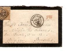 France TP 30 S/L.de Deuil C.Marseille En 1870 10/6 Gff PD V.Bruxelles Ministère Des Finances C.d'arrivée PR4611 - Marcophilie (Lettres)