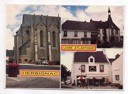 HERBIGNAC--Cité Fleurie--Multivues (église,café)--cpm N° C 730/44 éd Dubray - Herbignac