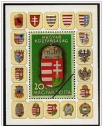 Ungheria/Hongrie/Hungary: Specimen,foglietto, Block, Bloc, Stemmi, Coats Of Arms, Armoiries