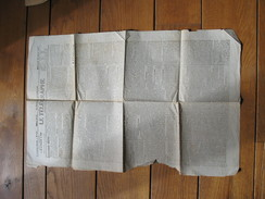 """LIEGE - Guerre 14/18 - Journal """" Le Télégraphe"""" Du 25 Avril 1917- !!  IL MANQUE La Seconde Feuille  !!(b205) - 1914-18"""