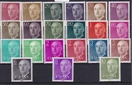 1143/63 SERIE DE 21 SELLOS DEL GENERAL FRANCO INCLUYE EL 2 PTAS ROJO - NUEVOS SIN CHARNELA - 1951-60 Ungebraucht