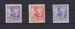 954/56 SERIE DE 3 SELLOS DEL IV CENTENARIO DE SAN JUAN DE LA CRUZ - NUEVOS SIN CHARNELA - 1931-50 Ungebraucht
