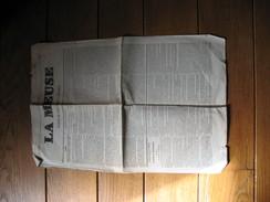 """!! TOP  Journal : """" La Meuse """"  Liège Et Province - Numéro Spécimen Daté Du 1er Janvier 1856 - Lire Descriptif !! (b205) - Kranten"""