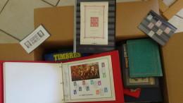 C Gros Carton Dont Bloc N° 1 Obl Auth+ Plaquette Timbres ** + Bloc ND Monaco + Album Monde Obl ...Port 31 Euros OFFERT !