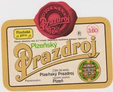 Bier Label Plzensky Prazdroj (from Czech Republic) - Bier