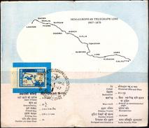 TELECOM-INDO EUROPEAN TELEGRAPH LINE-STAMP ON INFORMATION SHEET-INDIA-BX1-367 - Telecom