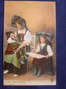 """CPA Alsace /WW1 : """"Types D'Alsaciennes """" - L.L.datée Sentheim ,S.P.190 -1917 . - Mulhouse"""
