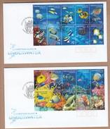 Christmas Island  2 FDCs 2004 Underwater