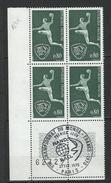 "Coins Datés FDC YT 1629 "" Handball "" Neuf** Paris Le 21 FEV 1970 - 1970-1979"