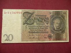 ALLEMAGNE Billet De 20 Mark 1929 - [ 3] 1918-1933 : République De Weimar
