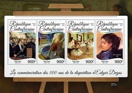 Centrafrica 2017, Art, Degas, 4val In BF