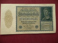 ALLEMAGNE Billet De 10000 Mark 1922 Neuf - [ 3] 1918-1933 : République De Weimar