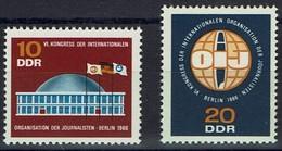 DDR 1966 - MiNr 1212-1213 - Internationalen Organisation Der Journalisten - Berlin - Ungebraucht
