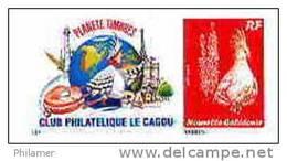 Nouvelle Caledonie Timbre A Moi Personnalise Prive Club Le Cagou Parc Floral 2010 Oiseau Cagou Phare Eiffel Neuf TBE