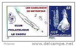 VERSION Cagousiens France Nouvelle Caledonie Timbre Poste Personnalise Cagou Ramon Oiseau Bleu Prive Neuf 2009 Unc