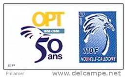 Nouvelle Caledonie Timbre Poste Personnalise 1er Public Avec Cagou Soit Tirage Officiel 50 Ans Opt Salon Coll 2008 TBE