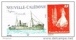 Nouvelle Caledonie Timbre Personnalise Prive M. Bunel Paquebot Navire Vapeur Pervenche Wallis Hebrides Neuf 2013
