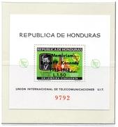 HONDURAS / SATURNE SA 5 Espace Bloc 1 Valeur Surchargé Dentelée Neuve MNH Cote 18.00 Vente 7.00 Euros