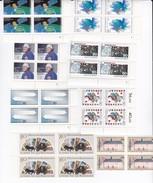 ALLEMAGNE DEUTSCHLAND 1986 Timbres N° 1118 / 1122 à 1137  EN BLOCS DE 4 **. Cote 153 Euros