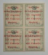 1929. LV Reunion Sociedad Naciones. Edifil 455. Bloque De Cuatro. Nuevo Sin Fijasellos