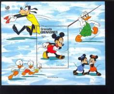 GRENADA  GR  948 MINT NEVER HINGED SOUVENIR SHEET OF DISNEY ; OLYMPICS   #  300-2  ( - Disney