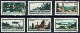 DDR 1966 - MiNr 1179-1184 - Natur- Und Landschaftsschutzgebiete