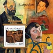 Centrafrica 2017, Art, Self Portrait, Dalì, Cezanne, Gauguin, Modigliani, BF